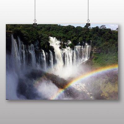 Big Box Art Angola Rainbow Waterfall Photographic Print