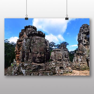 Big Box Art Angor Kat Cambodia Monument No.6 Photographic Print Wrapped on Canvas