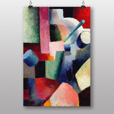 "Big Box Art ""Coloured Composition Forms""by August Macke Art Print"