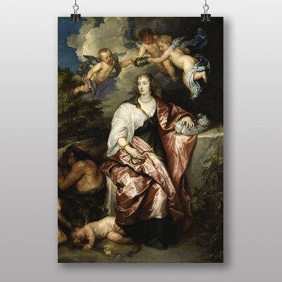 "Big Box Art ""Lady Digby"" by Anthony Van Dyck Art Print"