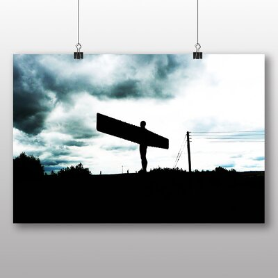 Big Box Art Angel of the North Newcastle No.4 Photographic Print Wrapped on Canvas