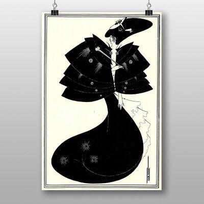"Big Box Art ""The Black Cape"" by Aubrey Beardsley Art Print"