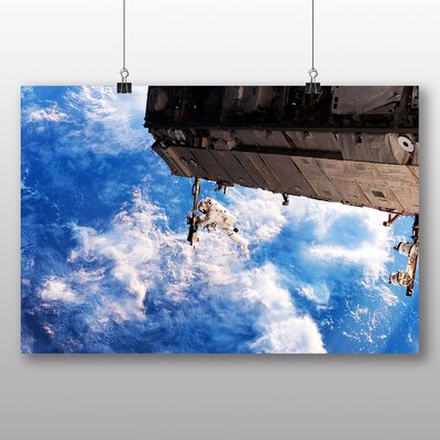 Big Box Art Astronaut Space Shuttle No.4 Photographic Print Wrapped on Canvas