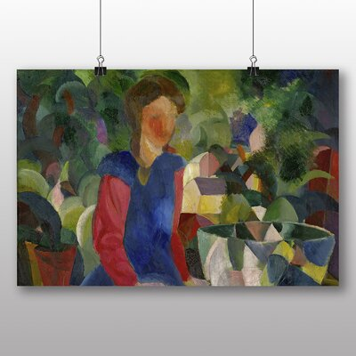 Big Box Art 'Woman with Plants' by August Macke Art Print