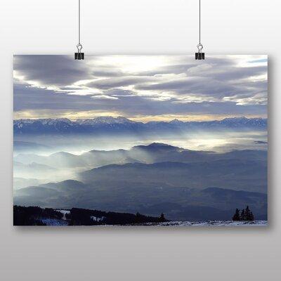 Big Box Art Austria Hills and Clouds No.2 Photographic Print on Canvas