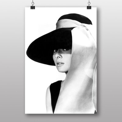 Big Box Art Audrey Hepburn No.6 Photographic Print on Canvas