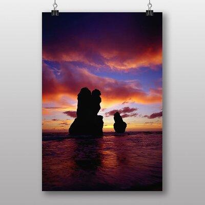 Big Box Art Apostles Sunset Photographic Print on Canvas
