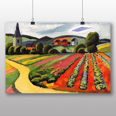Big Box Art 'Landscape at the Tegersee' by August Macke Art Print