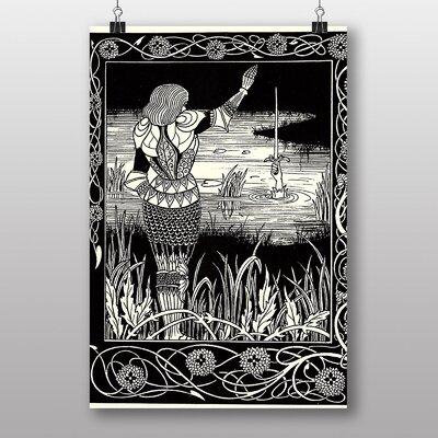"Big Box Art ""Excalibur in the Lake"" by Aubrey Beardsley Art Print"