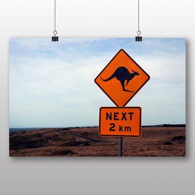 Big Box Art Australia Kangaroo Sign Photographic Print