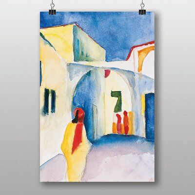 "Big Box Art ""View into a Lane"" by August Macke Graphic Art"