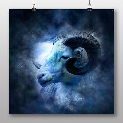 Big Box Art Aries Ram Astrology Zodiac Graphic Art Wrapped on Canvas