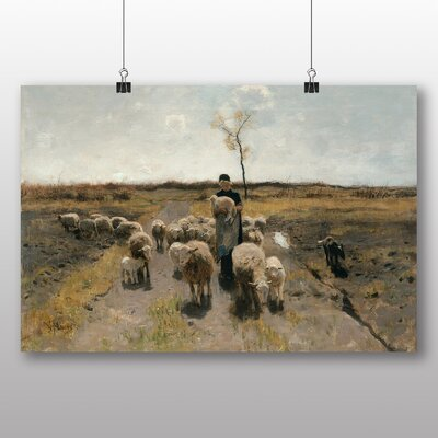 Big Box Art 'Flock of Sheep' by Anton Mauve Art Print