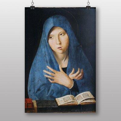 """Big Box Art """"Maria in Blue"""" by Antonello da Messina Art Print"""