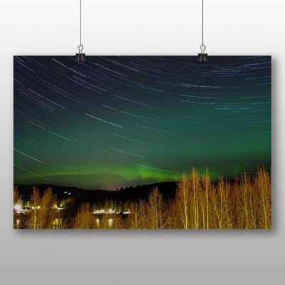 Big Box Art Aurora Borealis The Northern Lights No.18 Graphic Art Wrapped on Canvas