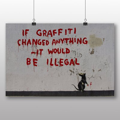 Big Box Art Rat Graffiti by Banksy Art Print