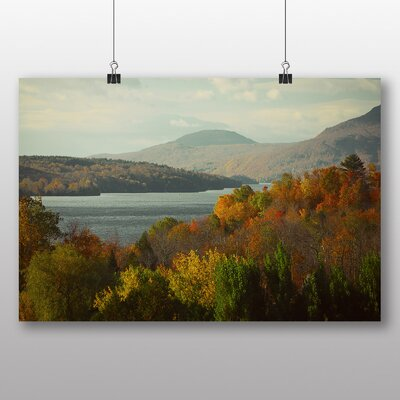 Big Box Art 'Autumn Landscape Trees and Lake' Photographic Print