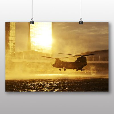 Big Box Art Army Military Helicopter No.3 Photographic Print on Canvas