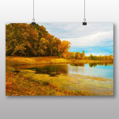 Big Box Art Autumn Forest No.2 Photographic Print Wrapped on Canvas