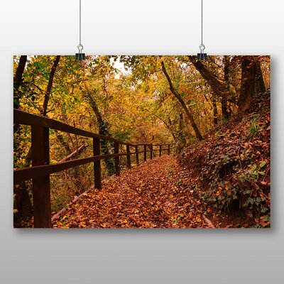 Big Box Art Autumn Forest Wood No.4 Photographic Print Wrapped on Canvas
