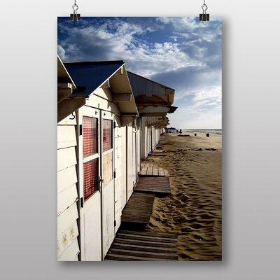 Big Box Art Beach Huts No.2 Photographic Print Wrapped on Canvas