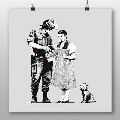 Big Box Art 'Banksy Stop Search Dorothy Graffiti' by Banksy Art Print