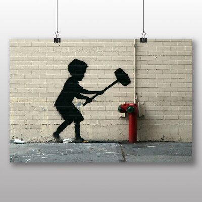 "Big Box Art ""Banksy Fire Hydrant Graffiti"" by Banksy Photographic Print"