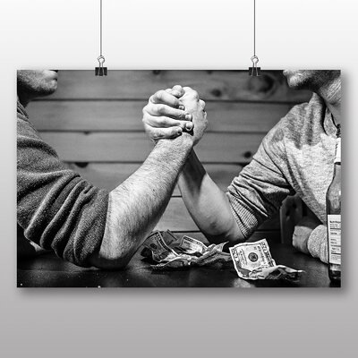 Big Box Art Arm Wrestling Photographic Print on Canvas