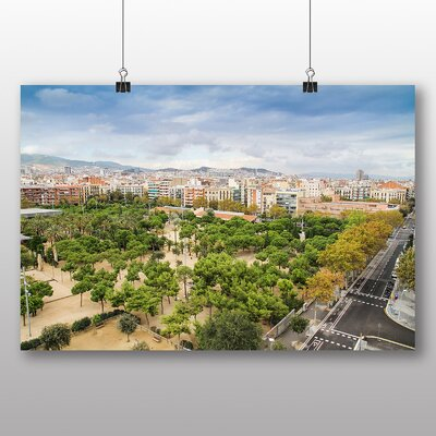 Big Box Art Barcelona Spain Landscape No.2 Photographic Print Wrapped on Canvas