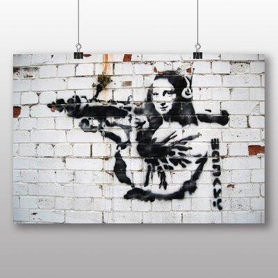 Big Box Art Mona Lisa Graffiti by Banksy Art Print