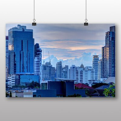 Big Box Art Bangkok Thailand Skyline No.3 Photographic Print on Canvas