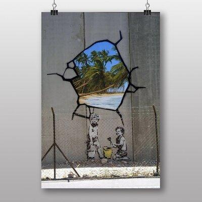 "Big Box Art ""Gaza Palestine Graffiti"" by Banksy Graphic Art Wrapped on Canvas"