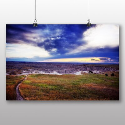 Big Box Art Badlands South Dakota USA No.1 Photographic Print Wrapped on Canvas