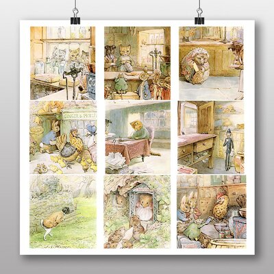 Big Box Art 'The Tale of Ginger and Pickles' by Beatrix Potter Art Print