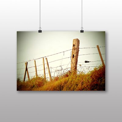 Big Box Art 'Barbed Wire Fence' Photographic Print