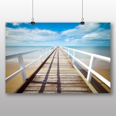 Big Box Art Beach Pier Photographic Print Wrapped on Canvas