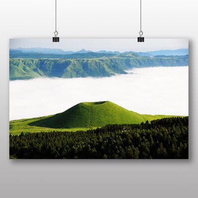Big Box Art Aso Kumamoto Japan Clouds No.2 Photographic Print Wrapped on Canvas