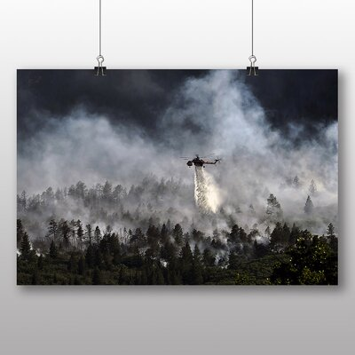 Big Box Art Army Military Helicopter No.7 Photographic Print Wrapped on Canvas