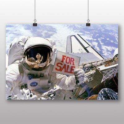 Big Box Art Astronaut Space Shuttle No.2 Graphic Art Wrapped on Canvas
