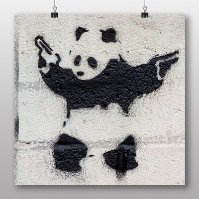Big Box Art Banksy Panda Guns Graffiti by Banksy Art Print