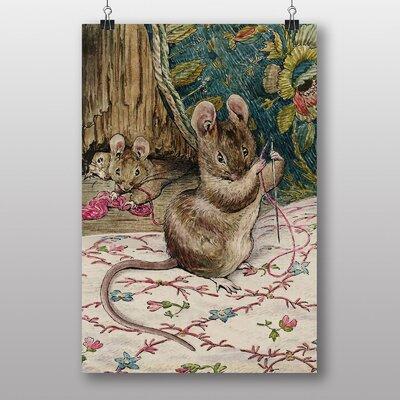 "Big Box Art ""Threading the Needle"" by Beatrix Potter Art Print Wrapped on Canvas"