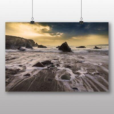 Big Box Art 'Beach and Rocks' Photographic Print