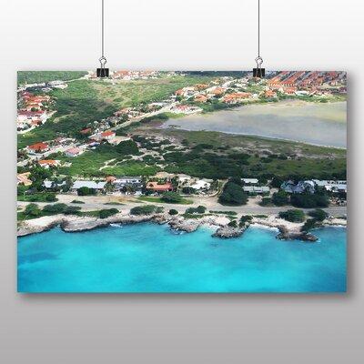 Big Box Art Aruba Aerial View Photographic Print Wrapped on Canvas