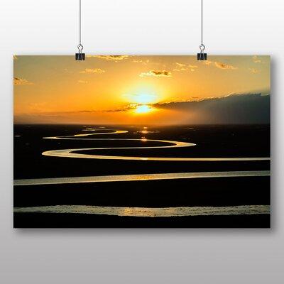 Big Box Art Beautiful Sunrise No.3 Photographic Print Wrapped on Canvas
