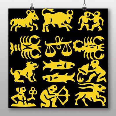 Big Box Art Astrology Zodiac Signs Graphic Art