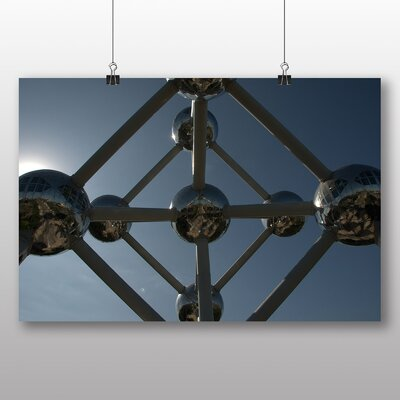 Big Box Art Atomium Brussels No.2 Photographic Print Wrapped on Canvas