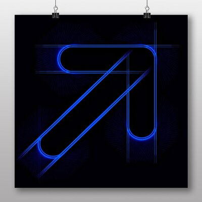 Big Box Art Arrow Abstract Art No.3 Graphic Art Wrapped on Canvas