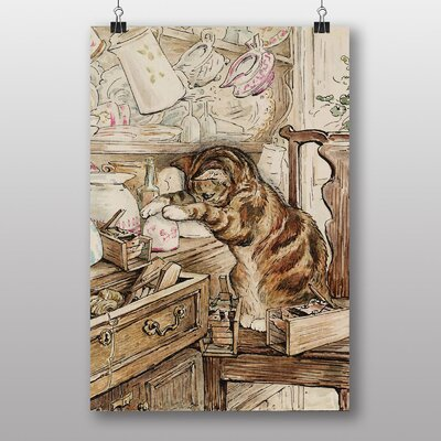 Big Box Art 'Simpkin Housekeeping' by Beatrix Potter Art Print