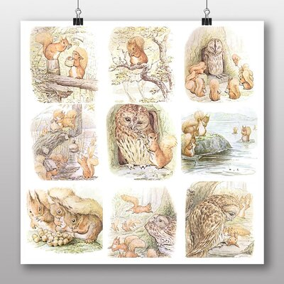 Big Box Art 'The Tale of Squirrel Nutkins' by Beatrix Potter Graphic Art