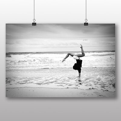 Big Box Art Beach Gymnastics Fitness Photographic Print Wrapped on Canvas